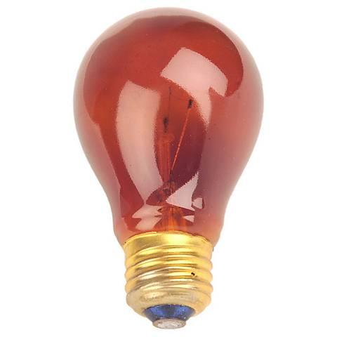 Red 25 Watt Party Light Bulb
