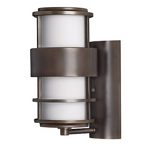 "Hinkley Saturn Metro Bronze12"" High Outdoor Wall Light"