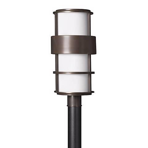 "Hinkley Saturn Metro Bronze 21 3/4"" High Post Mount Light"