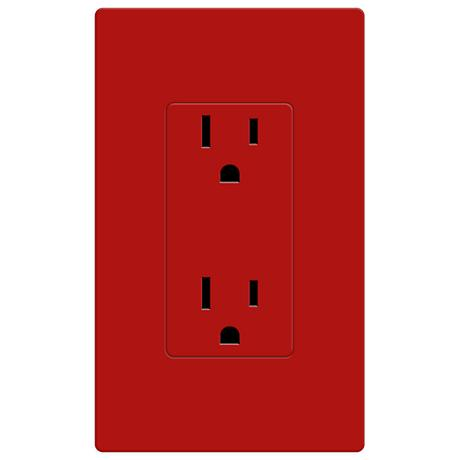 Lutron Diva Hot Red SC 15A 125V Receptacle