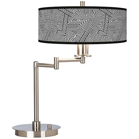 Labyrinth Giclee CFL Swing Arm Desk Lamp