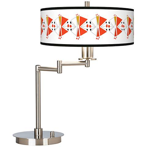 Lexiconic III Giclee CFL Swing Arm Desk Lamp