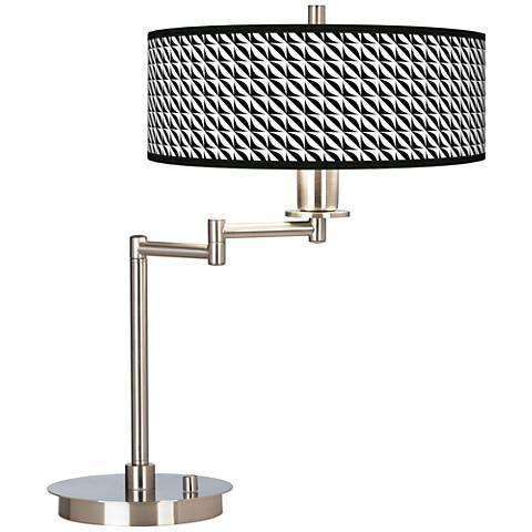 Waves Giclee CFL Swing Arm Desk Lamp