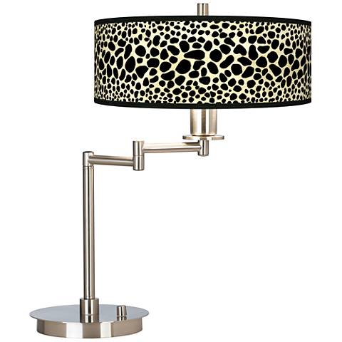 Leopard Giclee CFL Swing Arm Desk Lamp
