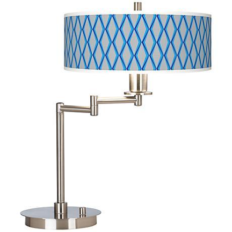 Bleu Matrix Giclee CFL Swing Arm Desk Lamp