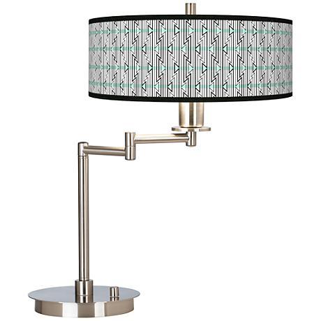 Indigenous Giclee CFL Swing Arm Desk Lamp