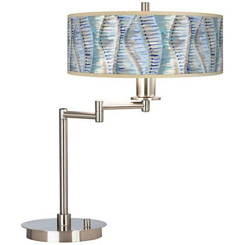 Siren Giclee CFL Swing Arm Desk Lamp