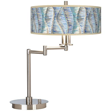 Siren Giclee CFL Swing Arm Desk Lamp
