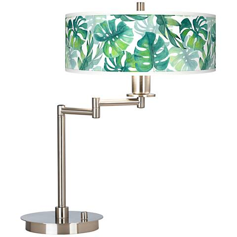 Tropica Giclee CFL Swing Arm Desk Lamp