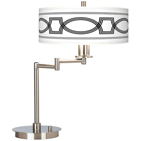 Concave Giclee CFL Swing Arm Desk Lamp