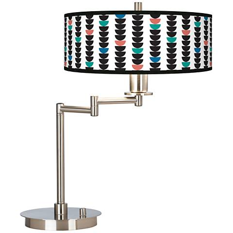 Semi-Dots Giclee CFL Swing Arm Desk Lamp