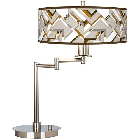 Craftsman Mosaic Giclee CFL Swing Arm Desk Lamp