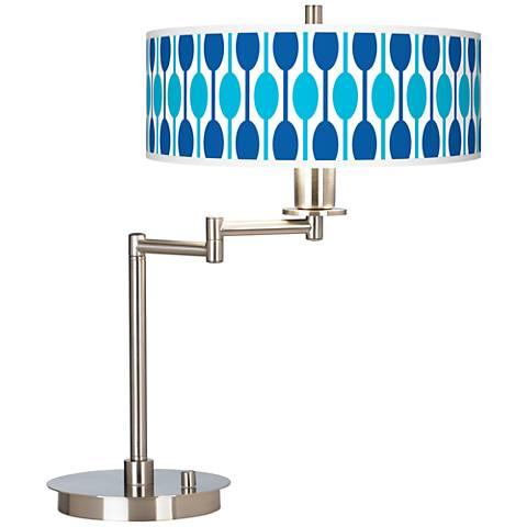Jet Set Giclee CFL Swing Arm Desk Lamp