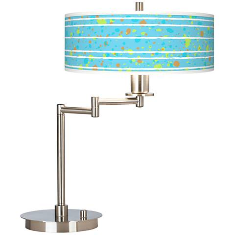 Paint Drips Giclee CFL Swing Arm Desk Lamp