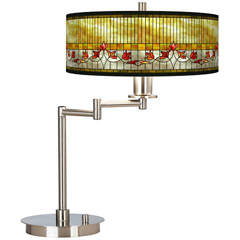 Tiffany Lily Giclee CFL Swing Arm Desk Lamp