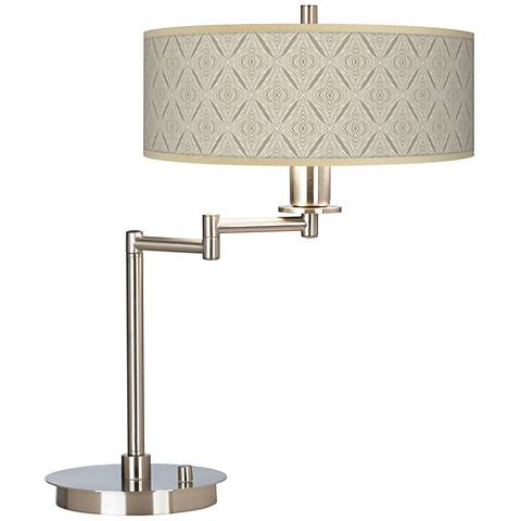 Moroccan Diamonds Giclee CFL Swing Arm Desk Lamp