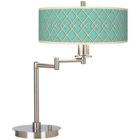Crossings Giclee CFL Swing Arm Desk Lamp
