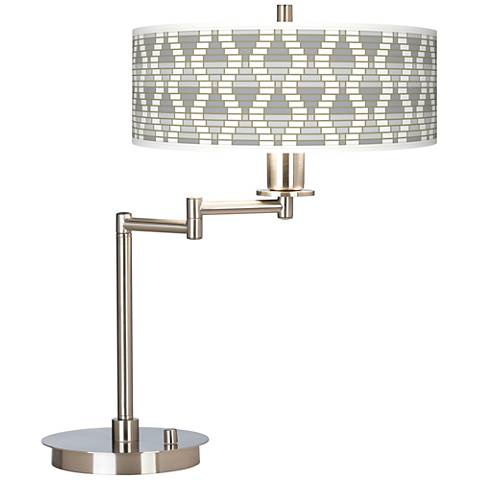 Stepping Out Giclee CFL Swing Arm Desk Lamp