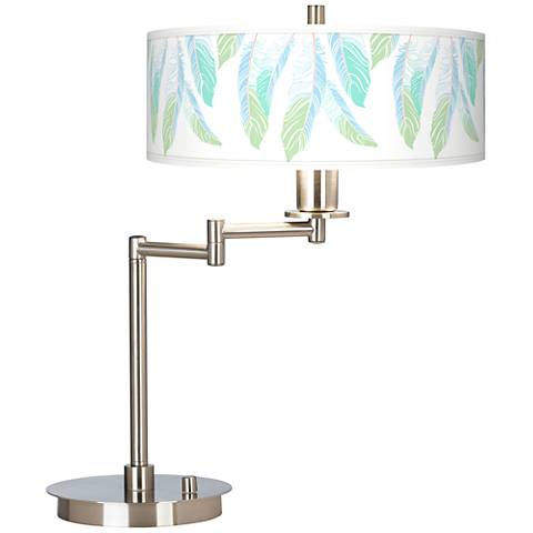 Light as a Feather Giclee CFL Swing Arm Desk Lamp