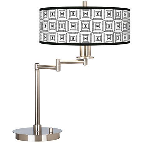 Tile Illusion Giclee CFL Swing Arm Desk Lamp