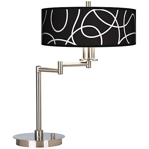 Abstract Giclee CFL Swing Arm Desk Lamp