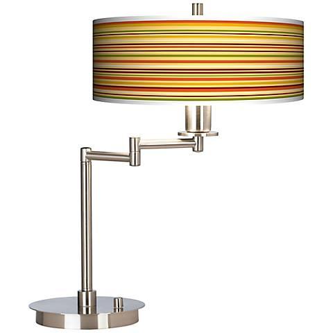 Stacy Garcia Harvest Stripe Giclee CFL Swing Arm Desk Lamp