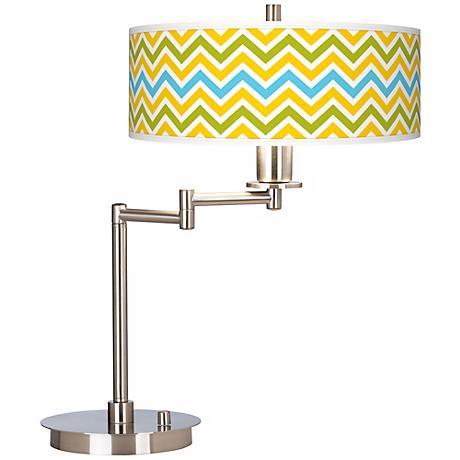 Citrus Zig Zag Giclee CFL Swing Arm Desk Lamp