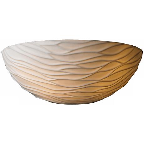 """Limoges Collection Waves 12"""" Wide Pocket Wall Sconce"""