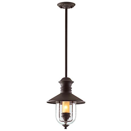 """Old Town 16"""" High Natural Bronze Outdoor Hanging Light"""