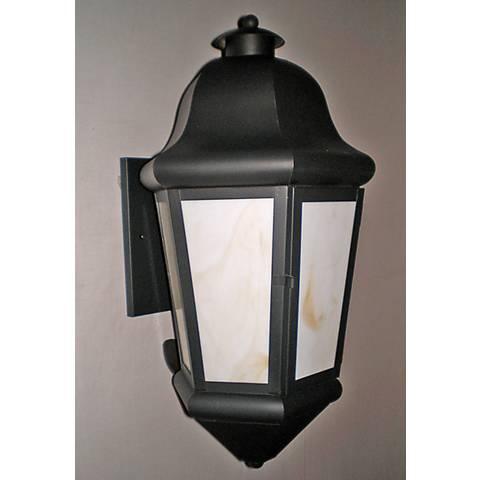 """Honey Glass Energy Efficient 21"""" High Outdoor Wall Light"""