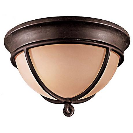 """Minka Knotted Iron 12"""" Wide Ceiling Light Fixture"""
