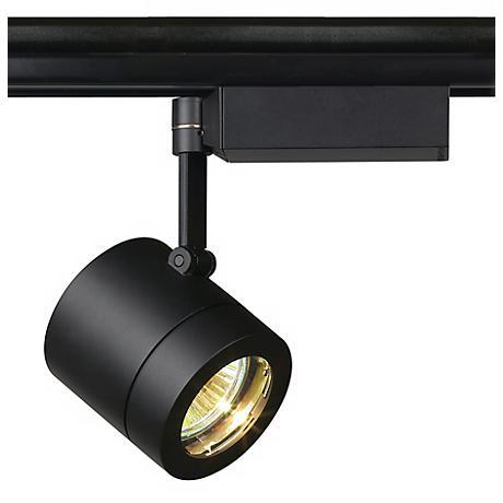 Lightolier MR 16 Black Mini Cylinder Track Head