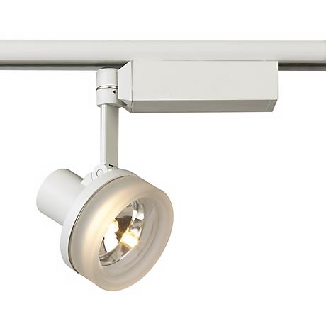 Lightolier White With Glass Ring MR 16 Track Head 62793