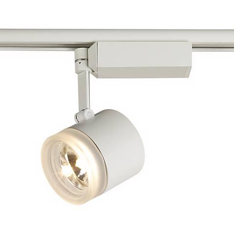 Lightolier Glass Cylinder White Track Head