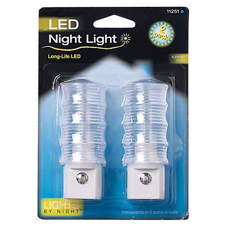 Set of Two LED White Night Light