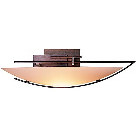 """Oval Ondrian Right Stone Glass 17 3/4"""" Wide  Wall Sconce"""