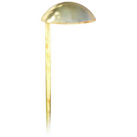 Cast Brass Mushroom Hat Low Voltage Landscape Light