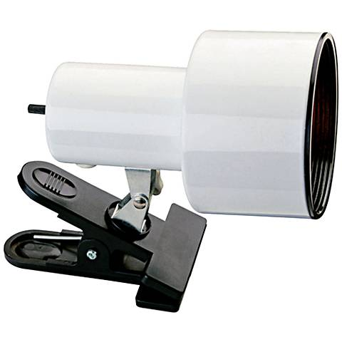 """White Mini Accent 6"""" HIgh Clip Light with LED Bulb"""