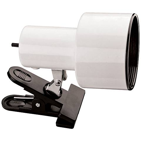 "White Mini Accent 6"" HIgh Clip Light with CFL Bulb"