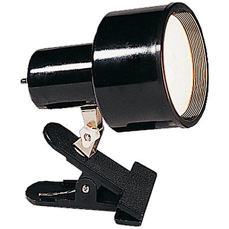 "Black Mini Accent 6"" HIgh Clip Light with CFL Bulb"
