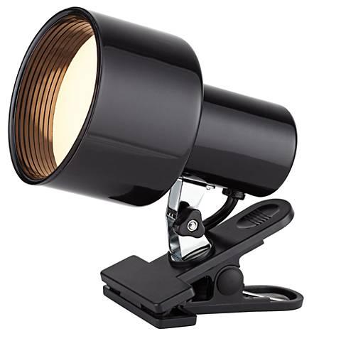 "Black 6"" High Mini Accent 60 Watt Clip Light"