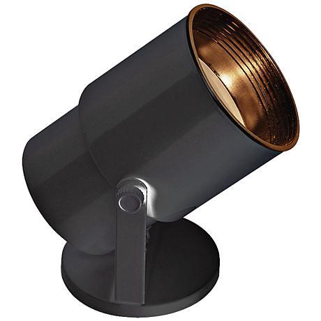 "Black 8"" High Adjustable Uplight with CFL Bulb"