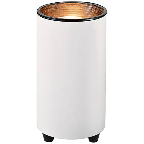 """White Accent Can Spot Light 6 1/2"""" High with CFL Bulb"""