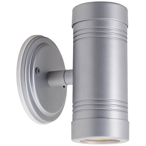 Omni Silver Outdoor Up-Down Adjustable Spotlight