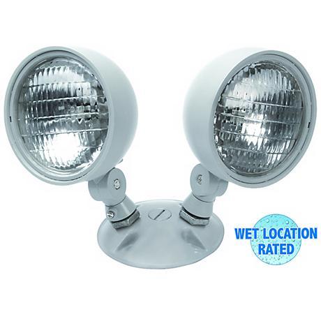 Dual Head Wet Location 7.2 Watt Remote Emergency Light