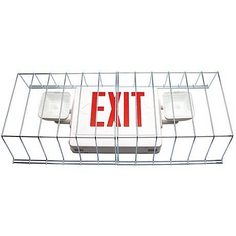 Protective Guard for Exit Sign Emergency Lights