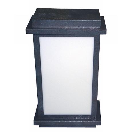 Black Rust Box Wall Lantern
