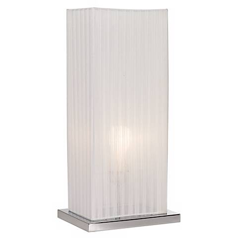 "Cube Ribbon Shade 19 3/4"" High Accent Table Lamp"