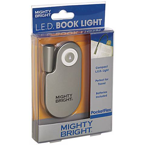 Mighty Bright Pocketflex LED Silver Book Light