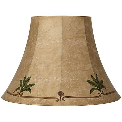 Palm Leaf Faux Leather Lamp Shade 9x18x13 (Spider)